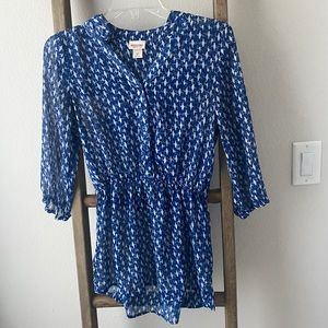 Blue blouse - mossimo size small